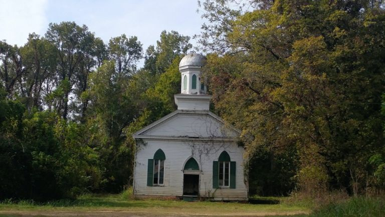 Abandoned church in Rodney, Mississippi