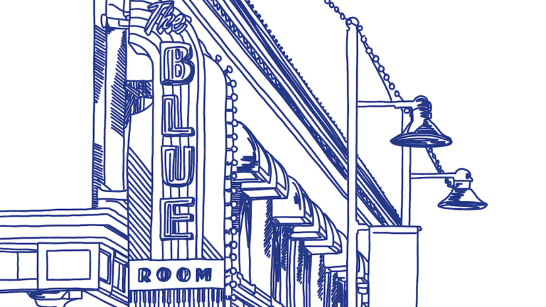 Blue Room Jazz Club, Kansas City. Illustration by Sophia Derry for Fifty Grande.