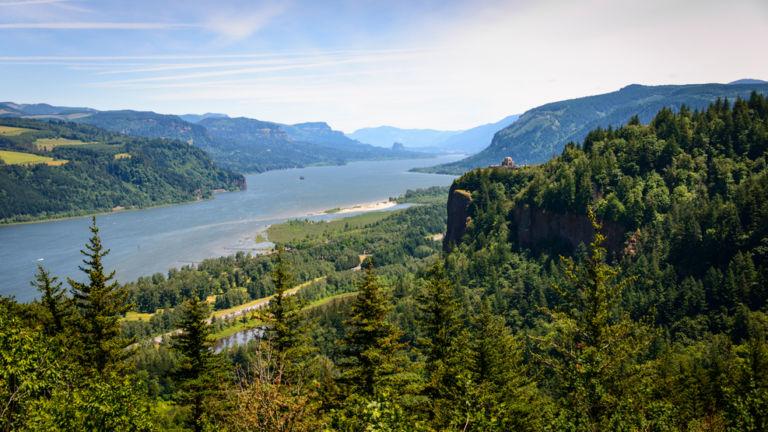 Lush Landscape of Columbia Gorge National Scenic Area