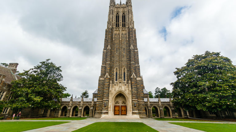 Duke Chapel at Duke University in Durham, North Carolina.