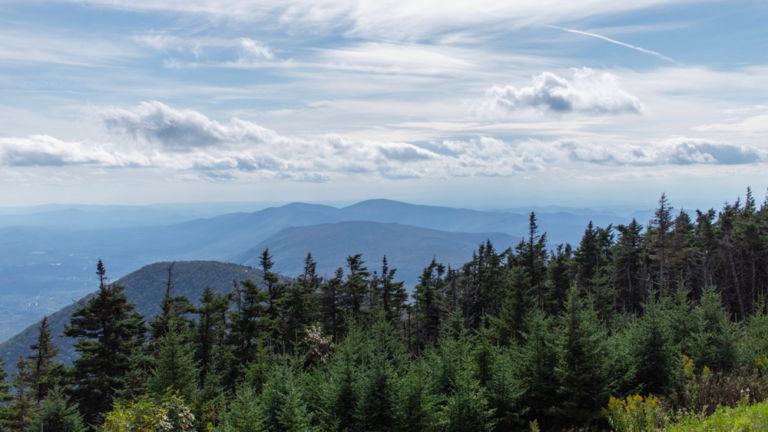 View of mountains in Vermont from Mount Equinox. Pic: Shutterstock