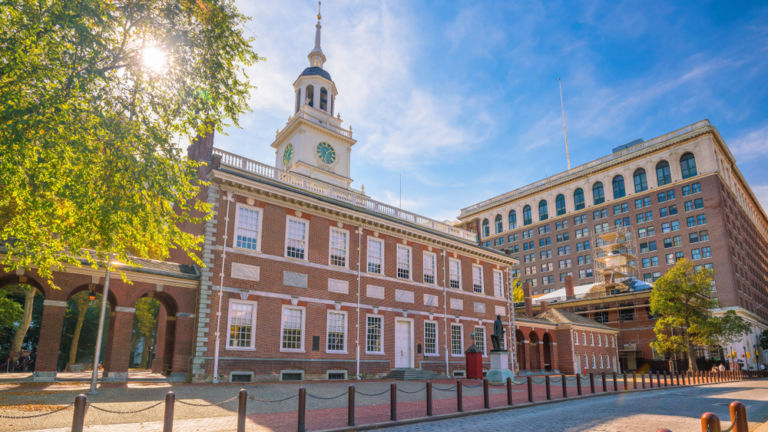 Independence Hall in Philadelphia. Pic via Shutterstock.