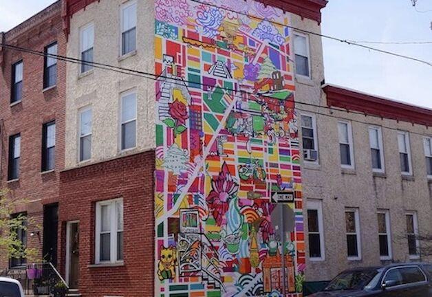 """Shira Walinsky's vibrant mural """"Migrating Home"""" in Philadelphia. Image via @thehaya83 Instagram."""