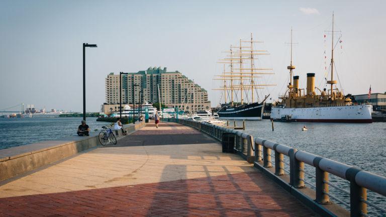 Pier at Penn's Landing. Photo: Shutterstock.