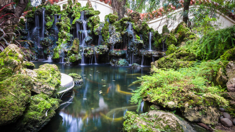 Portland Japanese Garden in Portland, OR.