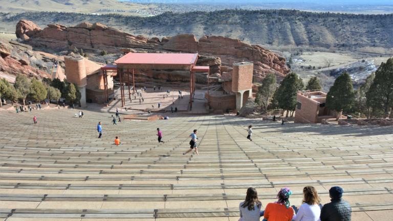 Red Rocks Amphitheater. Pic via Shutterstock.