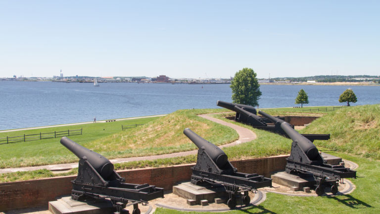 Cannons at Fort McHenry, Baltimore