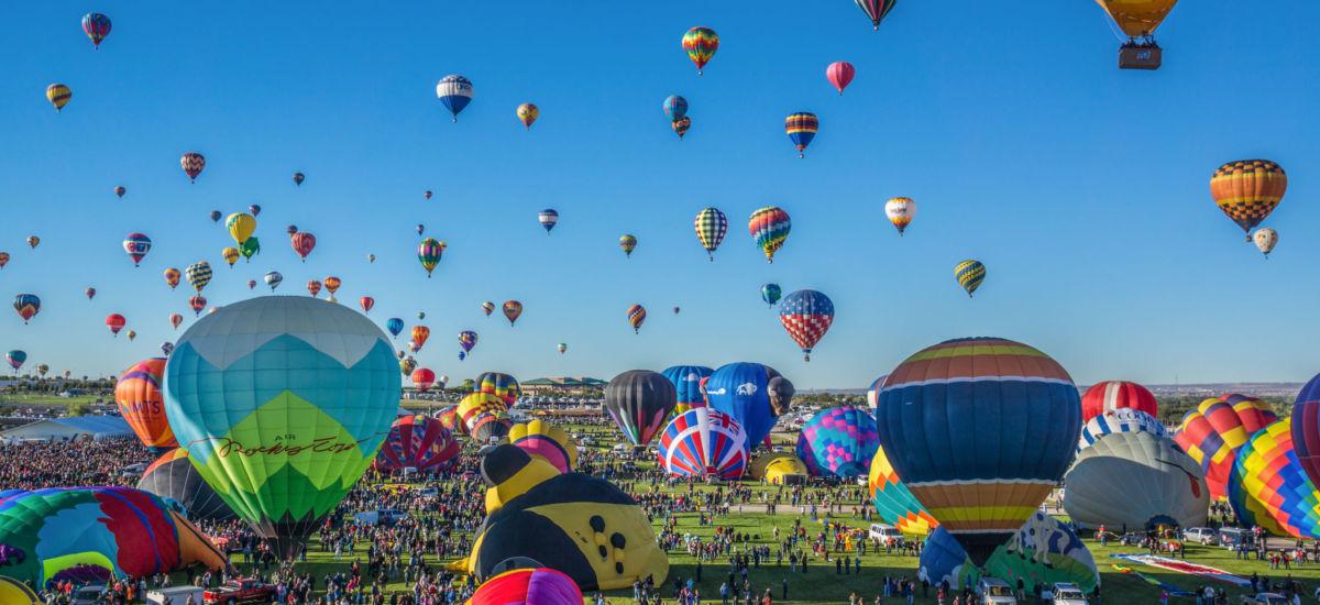 Mass ascension begins at the annual Albuquerque Balloon Fiesta.