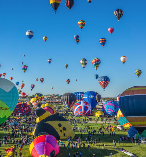 Mass ascension begins at the annual Albuquerque Balloon Fiesta.