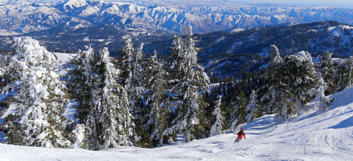 Bogus Basin ski area in Boise, Idaho