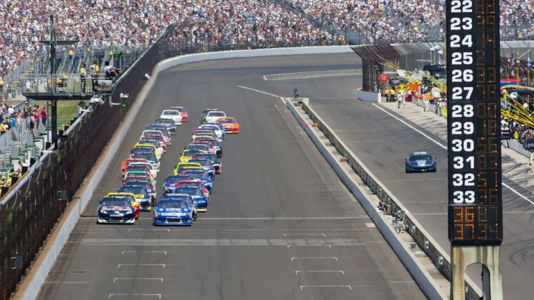 Indy Speedway in Indianapolis. Pic via Shutterstock.