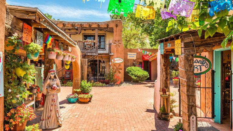 Old Town in Albuquerque. Pic via Shutterstock