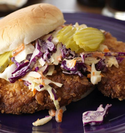Pork tenderloin sandwich. Pic via Shutterstock.