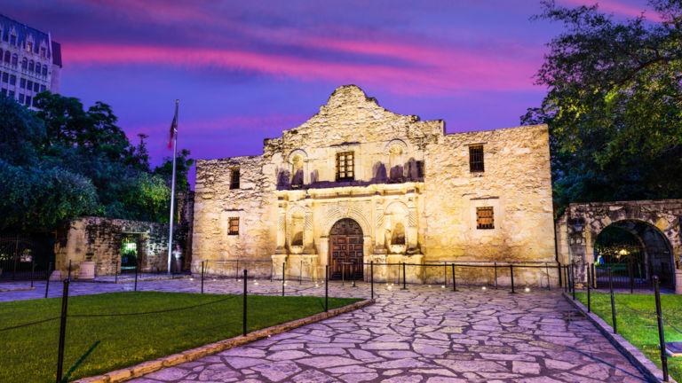 The Alamo in San Antonio. Pic via Shutterstock.