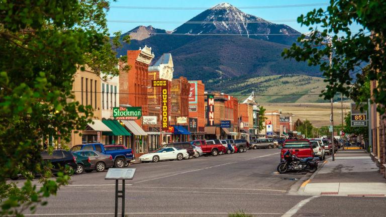 Livingston, Montana. Pic via Shutterstock.