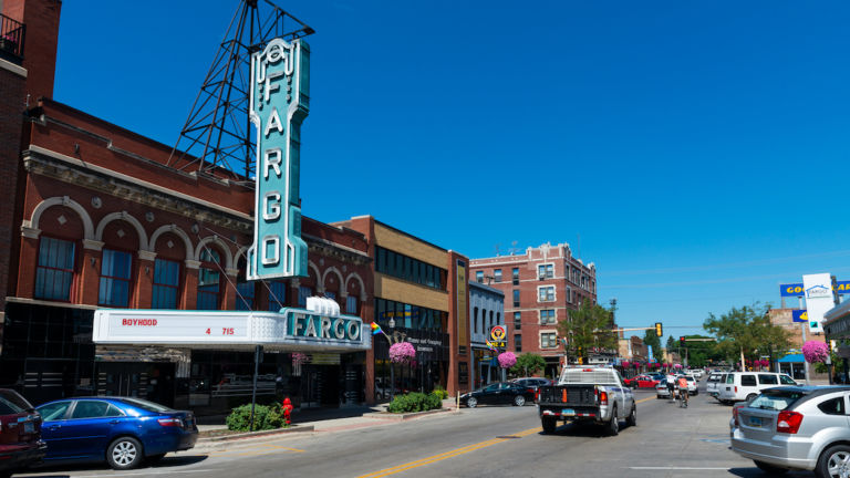 Fargo Theatre in Fargo, North Dakota. Pic via Shutterstock.