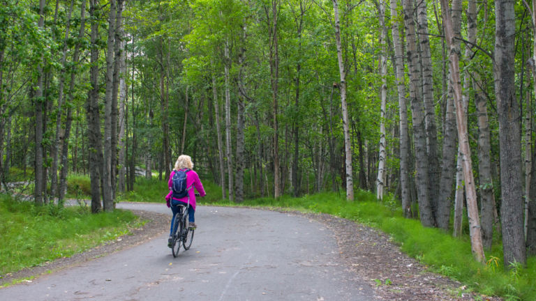 Tony Knowles Coastal Trail, Anchorage. Shutterstock.