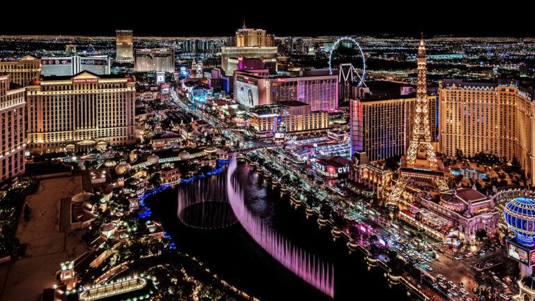 Las Vegas strip. Pic via Shutterstock.