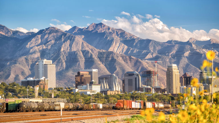 Downtown Salt Lake City. Pic via Shutterstock.
