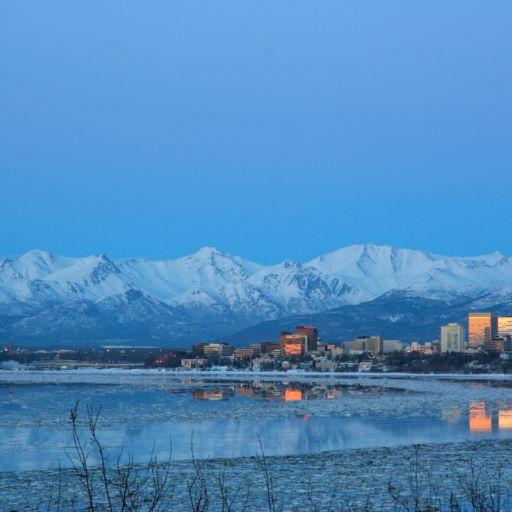 Downtown Anchorage, Alaska. Pic via Shutterstock