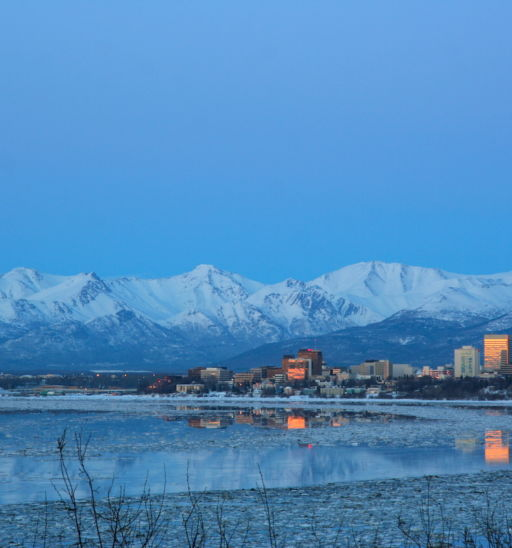 Downtown Anchorage, Alaska. Pic via Shutterstock