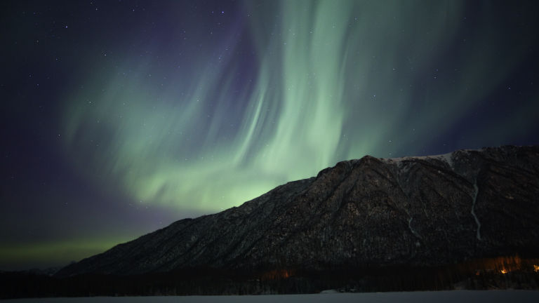 The Aurora Borealis, Anchorage. Shutterstock.