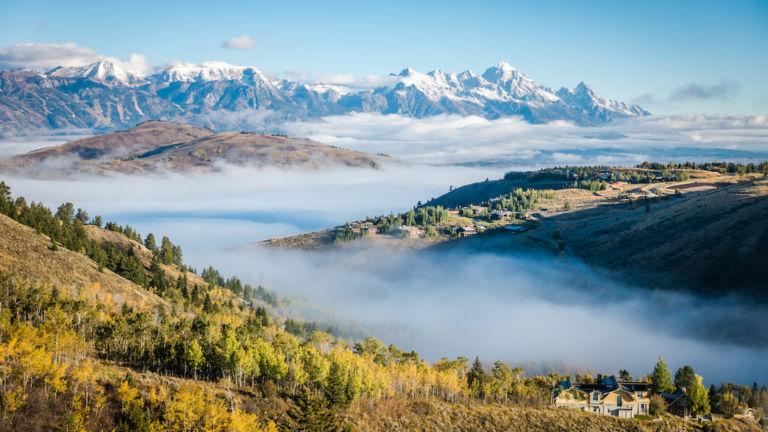 Grand Teton National Park, Jackson, Wyoming. Pic via Shutterstock