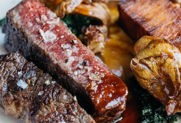 Steak at Monarch in Omaha, Nebraska.