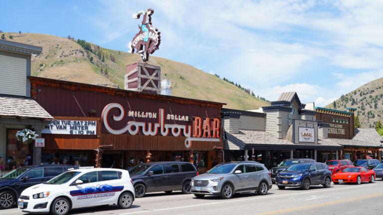 Million Dollar Cowboy Bar, Jackson, Wyoming.