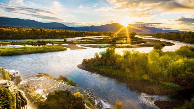 The Snake River, Jackson, Wyoming. Pic via Shutterstock