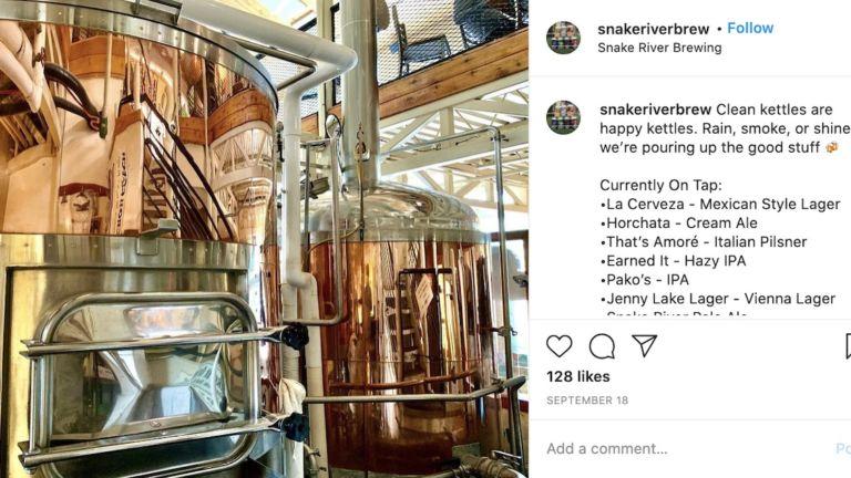 Snake River Brewing, Jackson, Wyoming. Pic via Instagram.