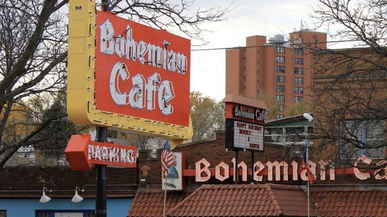 Bohemian Cafe in Little Bohemia, Omaha, Nebraska.