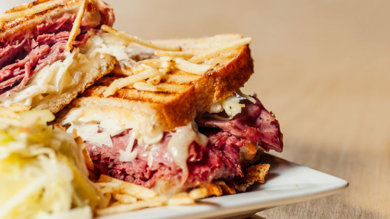 Oh wow, look at that Reuben sandwich! Totally stock image from Shutterstock. But, still.