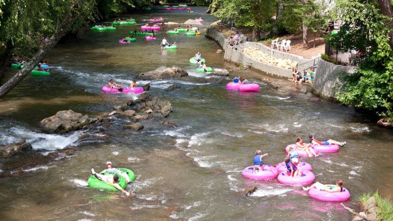 Tubing down a river. Pic via Shutterstock.