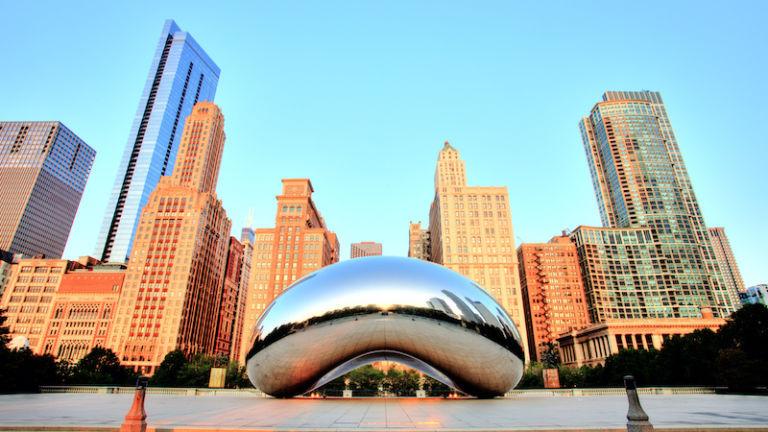 The Bean in Chicago. Photo via Shutterstock.