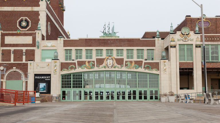 Convention Hall in Asbury Park, N.J., 2016. Photo credit Shutterstock.