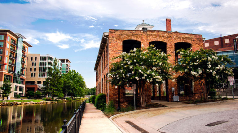Downtown in Greenville, South Carolina. Photo credit Shutterstock.