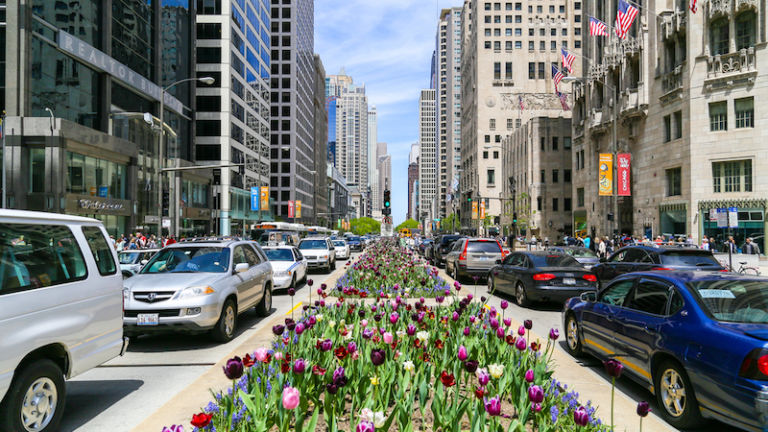 Magnificent Mile in Chicago. Image credit Shutterstock.