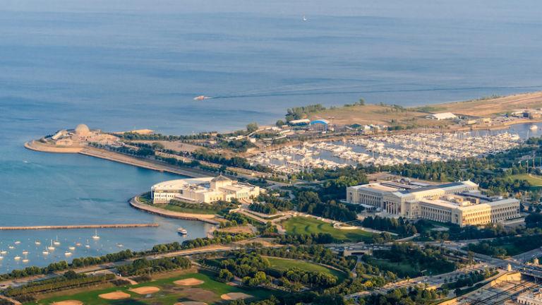 Museum Campus in Chicago. Photo via Shutterstock.