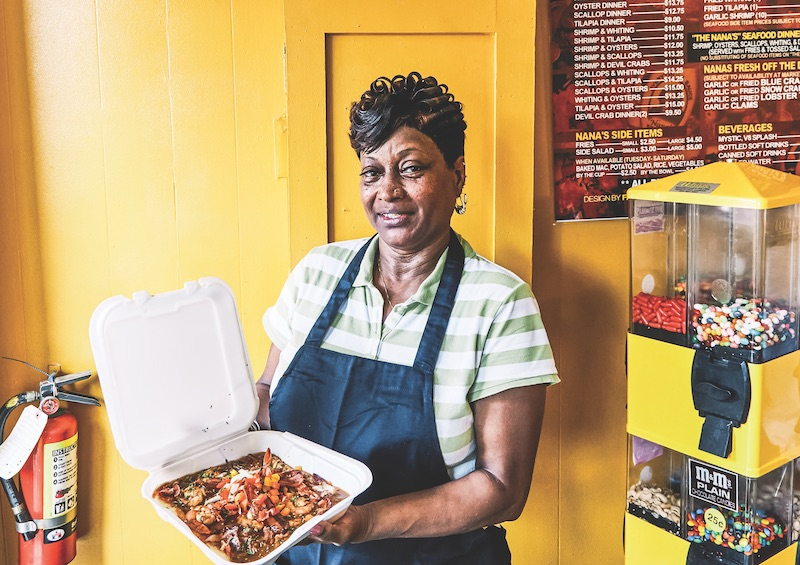 Charleston's Black Community Pushes for Tourism Changes. Pictured: Nana's Seafood and Soul.