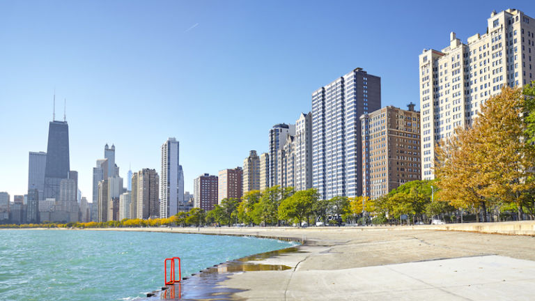 Lakefront Trail in Chicago. Photo by Shutterstock.