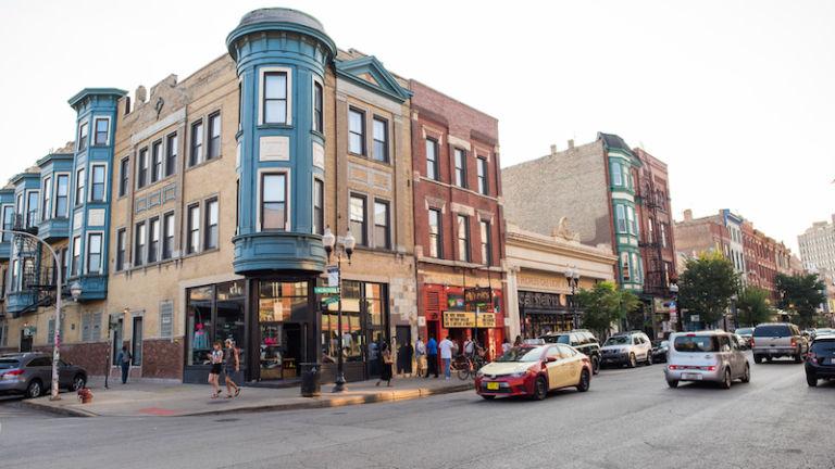 Wicker Park in Chicago. Photo via Shutterstock.