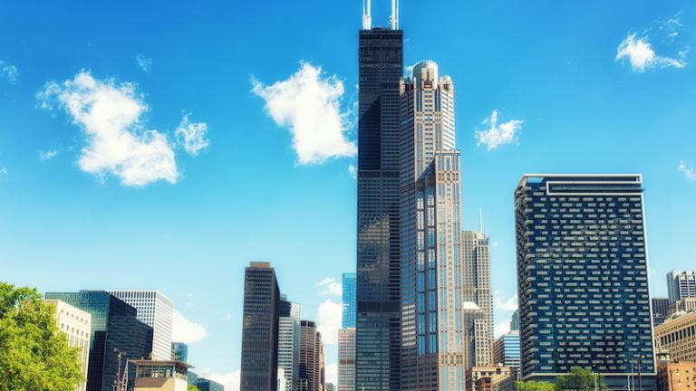 Willis Tower in Chicago. Photo via Shutterstock.