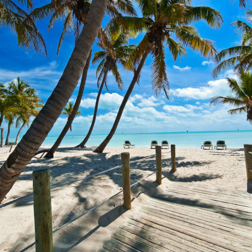Beach in Key West. Photo via Shutterstock.