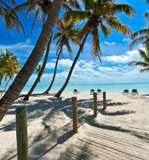 Beach in Key West. Photo via Shutterstock.
