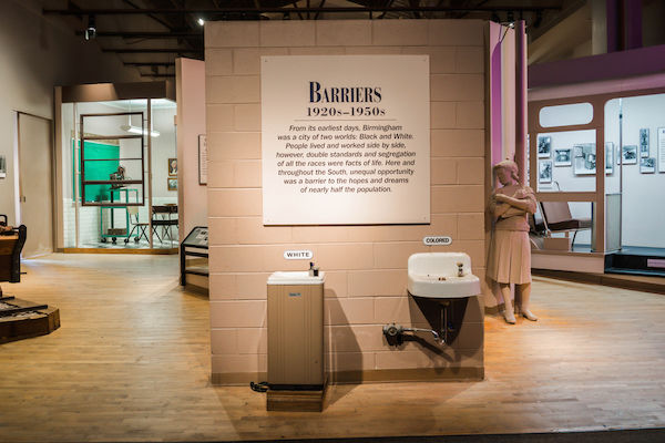 Birmingham, AL - February 10, 2017: The Birmingham Civil Rights Institute is a large interpretive museum and research center that depicts the struggles of the Civil Rights Movement. Photo via Shutterstock.
