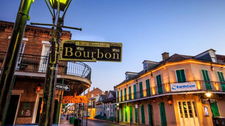 Bourbon Street in New Orleans. Photo by Shutterstock.