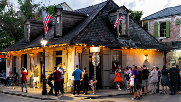 Lafitte's Blacksmith Shop Bar in New Orleans. Photo by Shutterstock.