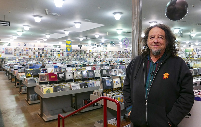 Marc Weinstein, co-founder of Amoeba Music in the SF location.
