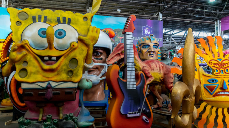 Mardi Gras World in New Orleans. Photo via Shutterstock.
